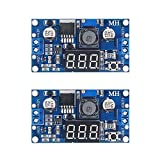 D-PLANET [2-Pack] LM2596s Buck Converter DC to DC Step-Down Voltage Regulator Power Module 36V 24V 12V to 5V 2A Voltage Stabilizer with LED Display