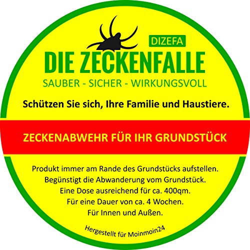 Dizefa Die Zeckenfalle - Das Original - Zeckenabwehr für ihren Garten I Mittel gegen Zecken I Innovativer Schutz für Mensch & Haustier