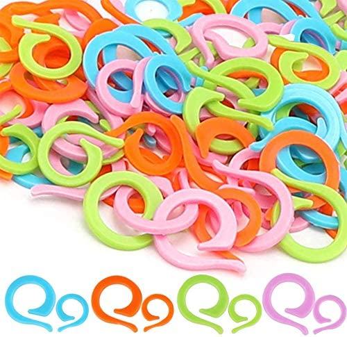 100 PCS Colorful Knitting Stitch Rings Mix Color Knitting Crochet Markers 2 Sizes Stitch Marker product image