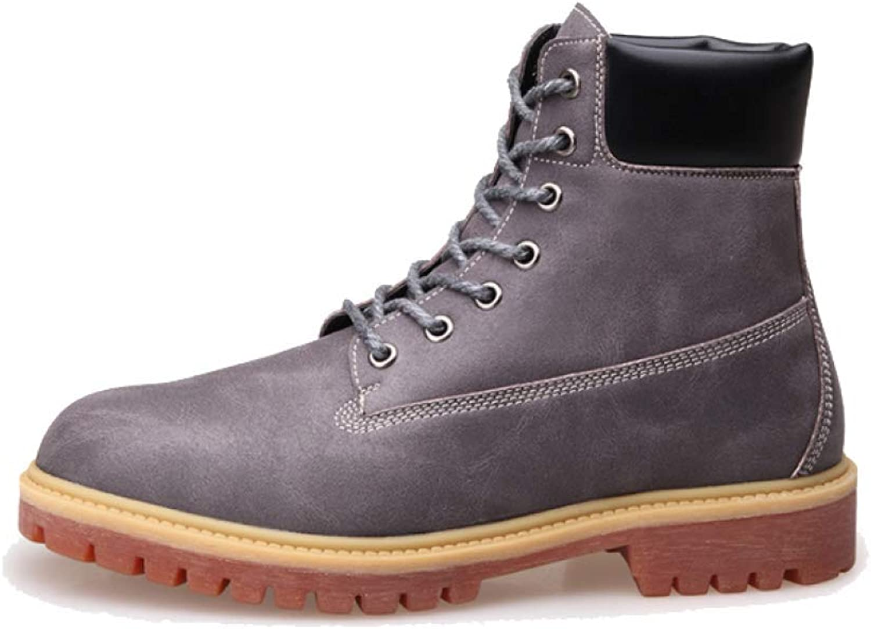 NIUMT Bottes Martin, Chaussures pour Hommes, Décontractée, Tendance de plein air, Style Britannique