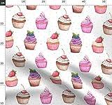 Cupcake, Muffin, Süß, Cupcakes, Vintage, Küche Stoffe -