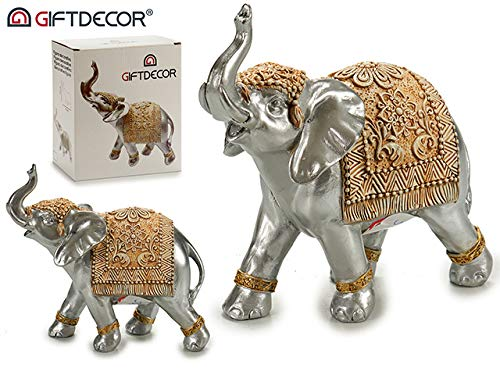takestop® olifant van kunsthars decoratief figuur