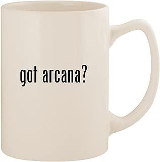 got arcana? - White 14oz Ceramic Statesman Coffee Mug Cup