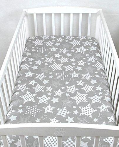 BABYLUX Kinder Baby SPANNBETTLAKEN Spannbetttuch Baumwolle 60x120 70x140 Sterne (70x140 cm, 96. Sternbild)