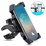 Bicidi 【2020モデル】スマホホルダー 自転車 オートバイ ホルダー GPSナビマウント 1秒自動ロックアップ 振れ止め 脱落防止 防水 片手操作 360度回転 装着/脱着簡単 スマホ固定用 4~6.5インチ iphone/Samsung/Sony/SHARP/arrows/KYOCERA 多機種対応