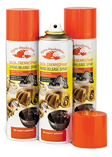Boyens 3er-Set Back-Trennspray zum Einfetten von Backformen/-blechen, 200 ml