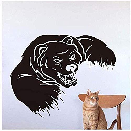 Animales Grizzly oso para decoración de pared de dormitorio de niños adhesivo de vinilo de animales carteles de bricolaje calcomanías de pared pegatinas decoración del hogar 74cmX58cm