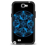 Silicone Phone Case for Samsung Galaxy Note 2 - Style 3 (Black)