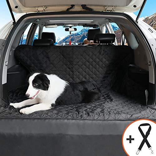 Bitsymore Schondecken für Hunde, Gesteppte Autositzbezüge für Hunde rutschfest wasserdicht gegen Schmutz und Kratzer Passend für die meisten Autos