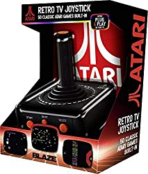 "This new progressive design with unique ""button on top"" function combines the classic Atari 2600 design with classic Arcade design!:50 Built-In Games:Simple plug and play console:A/V Output (cable included):Progressive controller design with an addit..."
