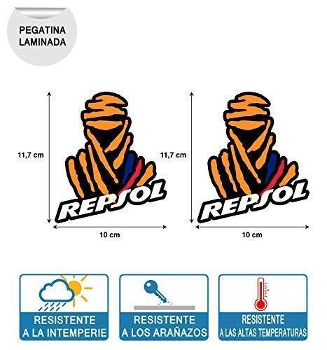 2 stuks stickers compatibel met Dakar Repsol Honda en BMW druk digitaal laminaat bescherming