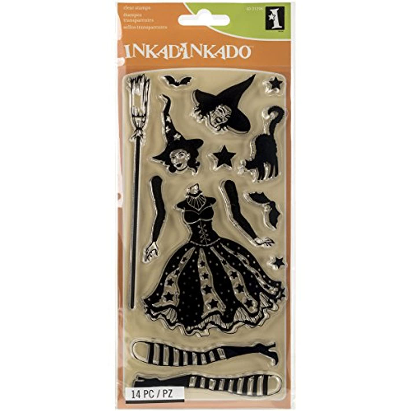 Inkadinkado 60-31294 Articulated Witch Clear Stamp Set, Black