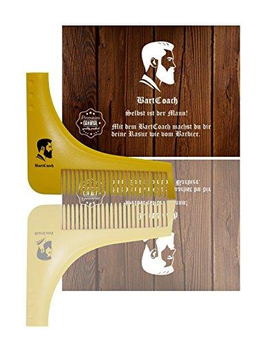 BartCoach Bartschablone für die perfekte Rasur inkl. Bartkamm