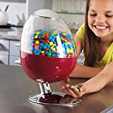 Automatic Treat dispenser Motion Activated Touch-free Dispenser Gumball Candy Snacks Peanuts Desktop prevents the spread of germs candy dispenser (red)