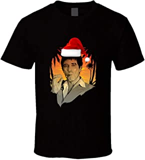 Scarface Tony Montana Let it Snow Ugly Christmas Sweater Style t-Shirt