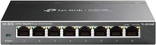 TP-Link Switch Ethernet (TL-SG108E ) Gigabit 8 RJ45 ports 10/100/1000Mbps, Web Manageable, Idéal partage de connexi...