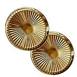 IMIKEYA 2 Piezas decoración de Pared Placa Dorada Montaje en Pared Adornos decoración para Sala de Estar Dormitorio (Dorado)