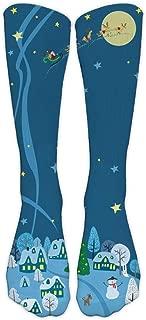 Christmas Casual Socks Unisex Festive Printed Fun Colorful Fancy Design Deer Snowflake Santa Cozy Warm Socks Xmas Gift