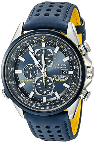 Citizen Men's Eco-Drive Blue Angels World Chronograph Atomic Timekeeping Watch with Day/Date,...