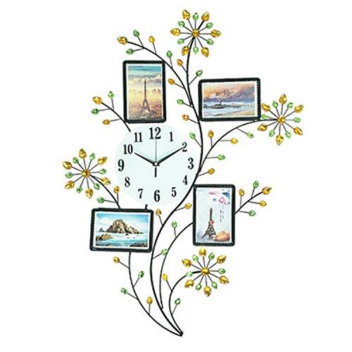 horloge murale CivilWeaEU Créative Salle de Séjour Moderne Horloge Simple Cadre de personnalité Liée à la Table Horloge Quartz Quartz Horloge D'art