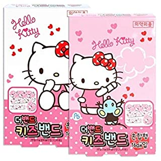 Sanrio Hello Kitty Band First Aid Tape Bandages : 32pcs (2 Boxes)
