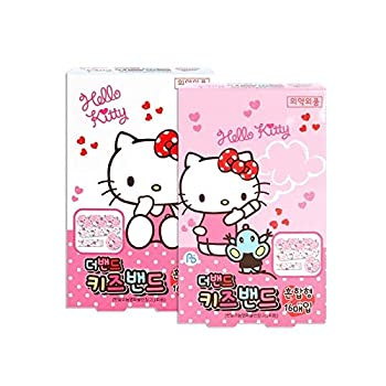 Sanrio Hello Kitty Band First Aid Tape Bandages   32pcs  2 Boxes