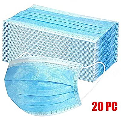 Disposable Filter 3-ply Face Mask Disposable Guard tool Surgical masque anti pollution Personal Protection Dust-Proof Anti Spittle Eye Mask-20_packs