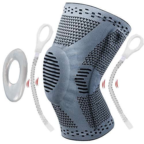 Lx-Top Rodillera Protectora de rótula y ligamentos con Estabilizadores Laterales Manga compresión Rodilla Reducir tensión Soporte Rodilla Desgarro menisco Conjunto Alivio Dolor Recuperación Lesiones