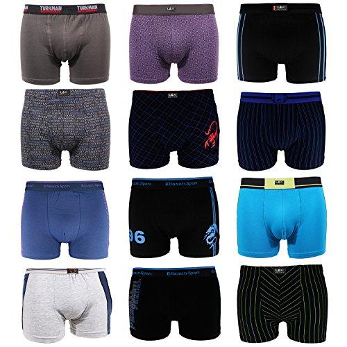 L&K 20er Pack Herren Boxershorts Sparpack 1103 Baumwolle Unterwäsche aus verschiedenen Modellen/Motiven XXL (Herstellergröße 3XL)