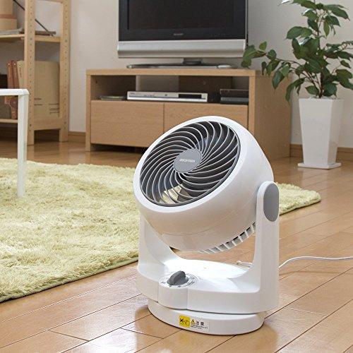 アイリスオーヤマサーキュレーター静音左右首振り8畳パワフル送風ホワイトPCF-HD15-W