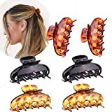 MEATYE 6 pinzas grandes para el pelo, para mujeres, gruesas, antideslizantes, accesorios de moda para mujeres y niñas.