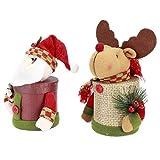 SONK Contenedor De Caramelos, Caja De Caramelos Ligera Caja De Regalo De Botella De Caramelos con Decoración De Muñecas para El Día De Navidad Decoraciones De Nochebuena