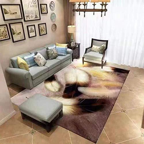 Moderno sofá minimalista, mesa de salón, alfombra con impresión tridimensional y tinte para dormitorio, cobertura completa, 200 x 300 cm