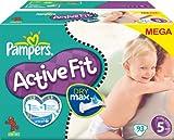Pannolini Pampers Active Fit Taglia 5Junior 11–25kg Mega Pack, 93pezzi