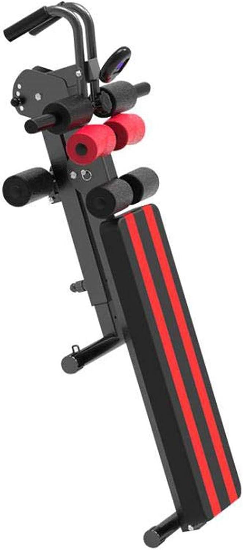 Einstellbarer Gewichtsbnke-Sit Up Bench Mehrzwecktrainer Mit Pulling Rope Und Monitor 4 Levels Hhe Von Flach Bis Incline Dekline Für Full Body Workout Thickened Leder