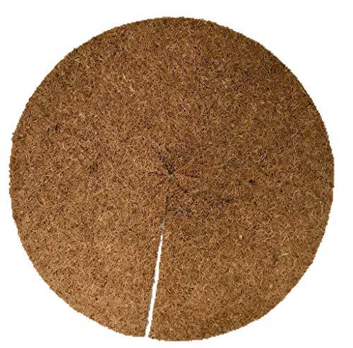 Disques de paillage 100% Noix de Coco, Paquet de 10, diamètre: 50 cm, Environ 0,7 cm d'épaisseur (4,15 EUR par pièce), Tapis approprié pour la Protection des Mauvaises Herbes, 100% biodégradable