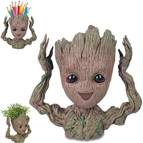 Blumentopf/ Stifthalter, Baum Mann Blumentopf, für Aquarium Deko/ Wohnkultur/ Kreativer Geschenke für Erwachseneund Kinder(Sich melden)