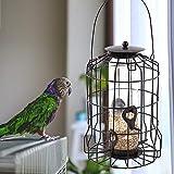 Yunt Mangeoire à Oiseaux Distributeur Suspendu Imperméable d'Extérieur Mangeoire Innovante pour Oiseaux de Compagnie,Nourrir dans Quatre Directions