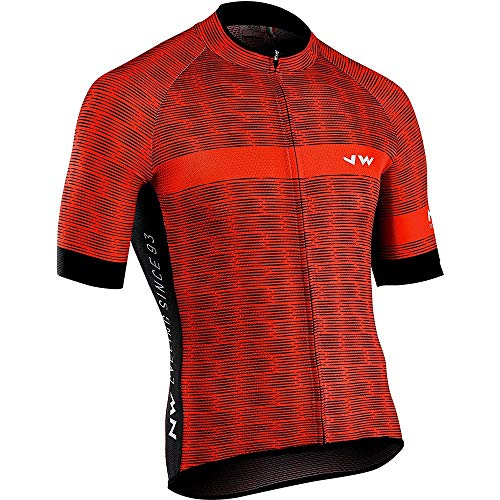 TiA Maillots De Ciclismo para Hombre Camisas De Ciclismo con 3 Bolsillos Traseros Elásticos con Banda Reflectante Equipacion Ciclismo para Hombre