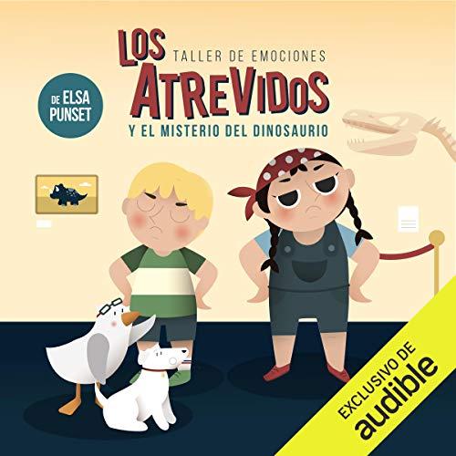Diseño de la portada del título Los Atrevidos y el misterio del dinosaurio