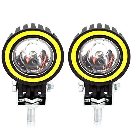 Faros de Trabajo LED 10W, Safego Faros Auxiliares de Moto LED Foco Luces de trabajo Luz delantera auxiliar 12V 24V para Motocicleta Auto SUV ATV 2PCS
