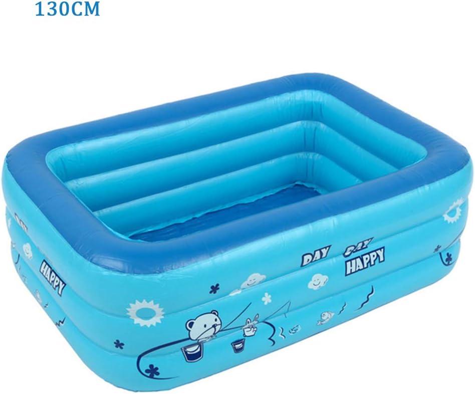 Baby Inflatable Folding Bath Pool,120//130cm Children Bathing Tub Baby Home Use Paddling Pool Inflatable Rectangle Swimming Pool Kids Inflatable Pool