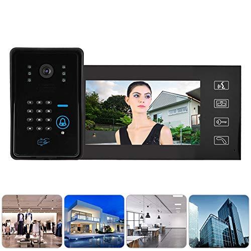 Redxiao Videoportero con Tarjeta de identificación con Video, Timbre telefónico(Austrian Standard (110V-240V))
