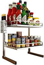 Home Living Museum/Stainless Steel Kitchen Rack Oil Salt Sauce Vinegar Storage Rack Seasoning Seasoning Rack Knife Supplie...