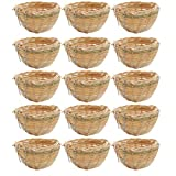 freneci 15x Jaula de Cría de Aves para Nido de Canarios de Bambú para Pinzón de Loro Pequeño