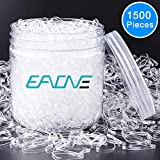 EAONE 1500 Pieces Clear Elastic Hair Bands, Rubber Hair Ties Packaged in Box for Girls...