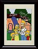 Framed Simpsons Autograph Replica Print - Cast Signed Family Portrait