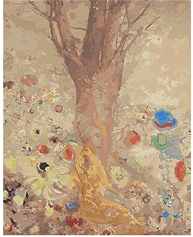 Superlucky Wohnkultur Bild Malen Nach Zahlen Landschaft DIY Leinwand Ölgemälde Wandkunst Für Wohnzimmer Bild Mit Rahmen 40x50cm B07J2GFW7Y | Modisch