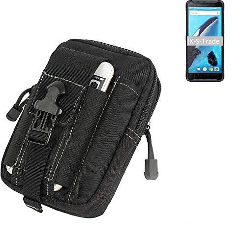 K-S-Trade® Gürtel Tasche Für Energizer Hardcase H570S Gürteltasche Schutzhülle Handy Hülle Smartphone Outdoor Handyhülle Schwarz Zusatzfächer