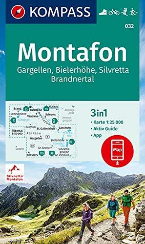 KOMPASS Wanderkarte Montafon, Gargellen, Bielerhöhe, Silvretta: 3in1 Wanderkarte 1:25000 mit Aktiv Guide, inklusive Karte zur offline Verwendung in ... Loipen. (KOMPASS-Wanderkarten, Band 32)